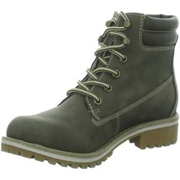 Schuhe Damen Boots Idana Stiefeletten Da. Schnürstiefel, Sportboden,DK. B 254246062 braun