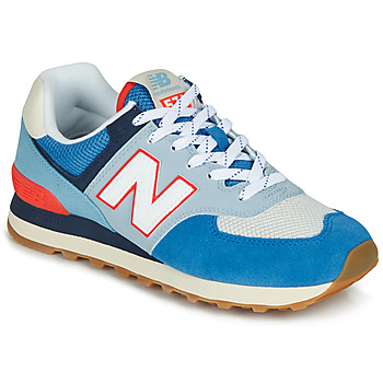 Schuhe Sneaker Low New Balance 574 Blau / Grau  / Orange