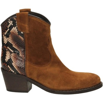 Schuhe Damen Low Boots Via Roma 15 TEXANO 347 cognac-tdm