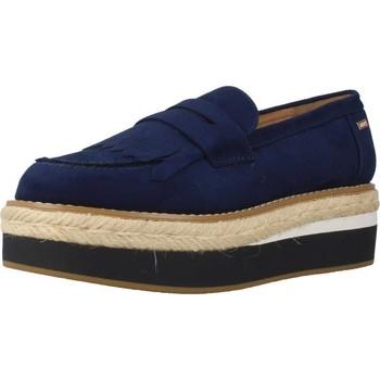 Schuhe Damen Leinen-Pantoletten mit gefloch MTNG 51633M Blau