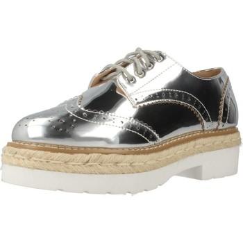 Schuhe Damen Leinen-Pantoletten mit gefloch MTNG 51785M Silber