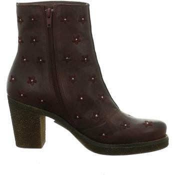 Schuhe Damen Low Boots Brako Stiefeletten NV 7915-2 rot