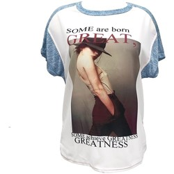 Kleidung Damen T-Shirts By La Vitrine Tee-shirt B005 Bleu/Blanc Blau