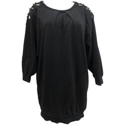 Kleidung Damen Tops / Blusen Rich & Royal Sweet mi manche Noir 13Q223 Schwarz