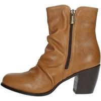 Schuhe Damen Boots Elena Del Chio 5803 Braun Leder