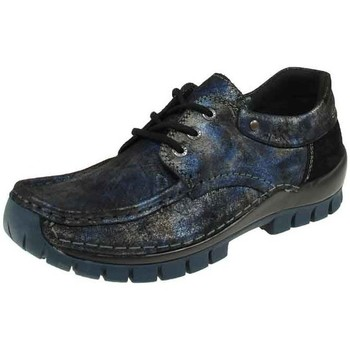 Schuhe Damen Slipper Wolky Schnuerschuhe Fly Winter 0472646-800-Fly-Winter blau