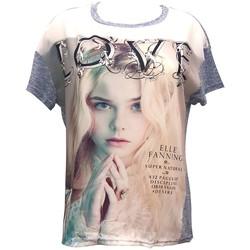 Kleidung Damen T-Shirts By La Vitrine Top Love B002 Bleu Blau