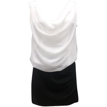 Kleidung Damen Kleider By La Vitrine Robe Noir Blanc Coco Giulia 0Y-019 Schwarz