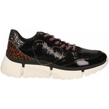Schuhe Damen Sneaker Low Nira Rubens STINGER RUNNING CUORE GLAM DARK nero-leopard
