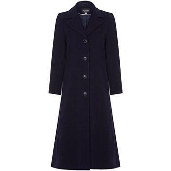 Kleidung Damen Mäntel Anastasia Winter Einreiher Kaschmir Mantel Navy
