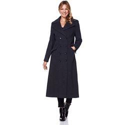 Kleidung Damen Mäntel Anastasia Winter Einreiher Kaschmir Mantel Grey
