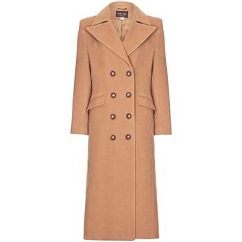 Kleidung Damen Mäntel Anastasia Winter Zweireiher Kaschmir Mantel Beige