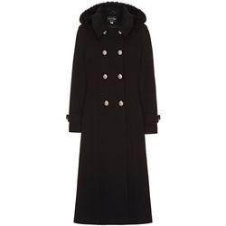 Kleidung Damen Mäntel Anastasia Kapuze Militär Kaschmir Mantel Black