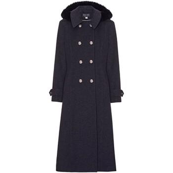 Kleidung Damen Mäntel Anastasia Kapuze Militär Kaschmir Mantel Grey