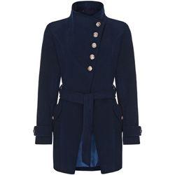 Kleidung Damen Trenchcoats Anastasia Wintermantel Mit Mehreren Knöpfen Blue