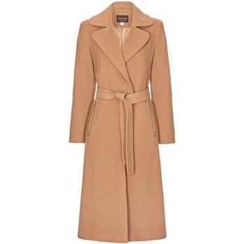 Kleidung Damen Trenchcoats Anastasia Winter Kaschmir Wrap Mit Gürtel Coat Beige