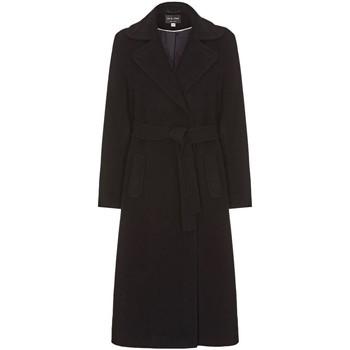 Kleidung Damen Trenchcoats Anastasia Winter Kaschmir Wrap Mit Gürtel Coat Black