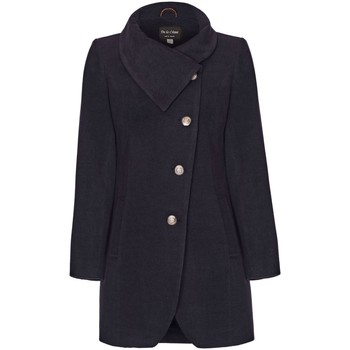 Kleidung Damen Mäntel De La Creme Asymmetrischer Wintermantel für Damen Grey