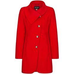 Kleidung Damen Mäntel De La Creme Asymmetrischer Wintermantel für Damen Red