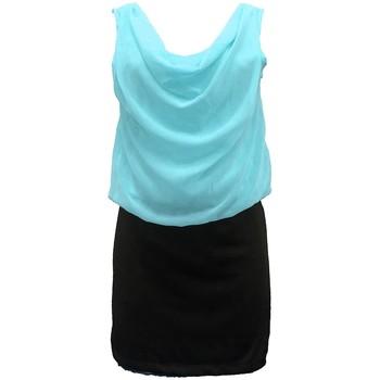 Kleidung Damen Kleider By La Vitrine Robe Noir Vert Coco Giulia 0Y-019 Schwarz