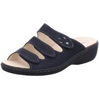 Schuhe Damen Pantoletten / Clogs Longo Pantoletten Bequem-Pantolette,navy/anthraz 1030997 blau