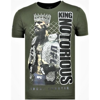 Kleidung Herren T-Shirts Local Fanatic King Notorious Rhinestones Sommer G Grün
