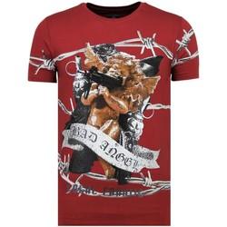 Kleidung Herren T-Shirts Local Fanatic Rhinestones Bad Angel B Bordeaux