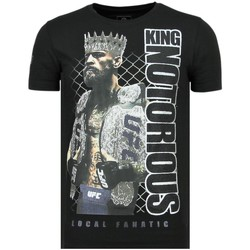 Kleidung Herren T-Shirts Local Fanatic King Notorious Rhinestones Sommer Z Schwarz