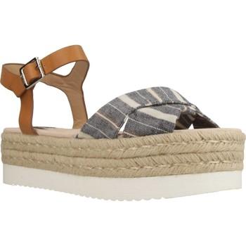 Schuhe Damen Leinen-Pantoletten mit gefloch MTNG 57937M Brown