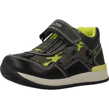 Schuhe Jungen Boots Geox B RISHON BOY Grau