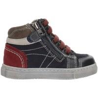 Schuhe Jungen Sneaker High Nero Giardini A724352M Blaues Grau und Bordeaux