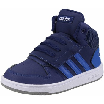 Schuhe Jungen Babyschuhe adidas Originals Klettschuhe HOOPS MID 2.0 I,DKBLUE/BLUE/FTWWHT EE6714 blau