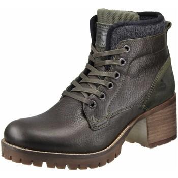 Schuhe Damen Stiefel Bullboxer Stiefeletten olivgrün-anthrazit 772M56894AMGRN braun