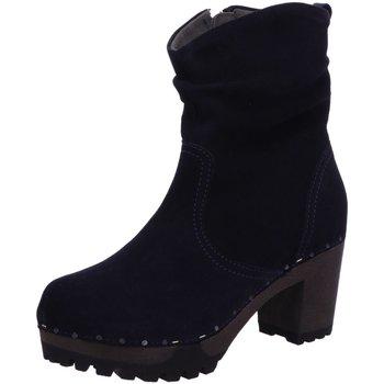 Schuhe Damen Stiefel Softclox Stiefeletten OBootie 3238 blau