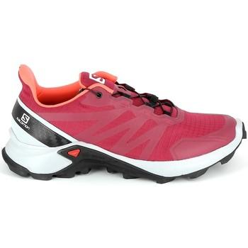 Schuhe Wanderschuhe Salomon Supercross Cerise Rot