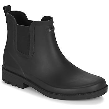 Schuhe Damen Gummistiefel Aigle CARVILLE Schwarz