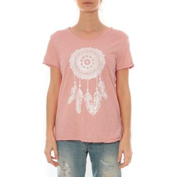 Kleidung Damen T-Shirts By La Vitrine Tee Shirt Anthracite Cake V Rose Pale Rose