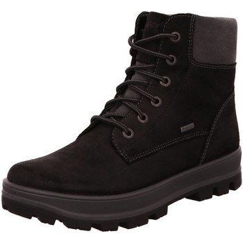 Schuhe Jungen Stiefel Superfit Schnuerstiefel 0-800474-0200 schwarz