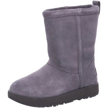 Schuhe Damen Stiefel UGG Stiefeletten classic short waterproof 1017508 grau