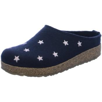 Schuhe Damen Hausschuhe Haflinger Grizzly Stelline 741032-70 blau