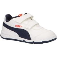 Schuhe Kinder Sneaker Low Puma 192523 STEPFLEEX Blanco