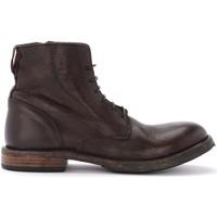 Schuhe Herren Boots Moma Cusna dunkelbraune Stiefelette aus Leder mit Schwarz