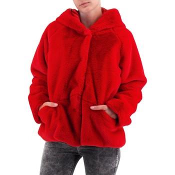Kleidung Damen Mäntel Amami   Kurzes Kapuzenfell   AMI_PEL3340DRO rouge