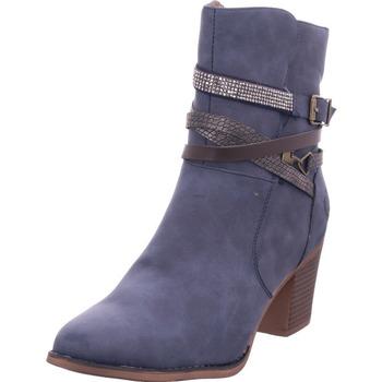 Idana Schlupf/RV-Stiefelette KF glat NAVY 836 - Schuhe Stiefel Damen 4795