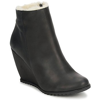 Schuhe Damen Low Boots D.Co Copenhagen SALLY ZIPPER Schwarz