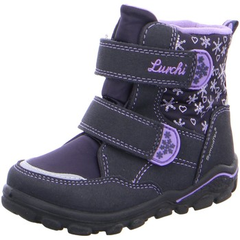 Schuhe Mädchen Babyschuhe Lurchi By Salamander Klettstiefel Kiri-Sympatex,ATLANTIC LAVENDEL 33-33007-32 blau