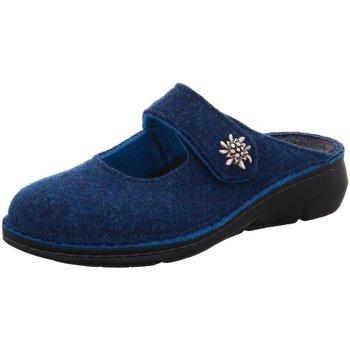 Schuhe Damen Hausschuhe Finn Comfort 06565 482046 blau