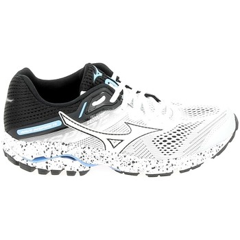 Schuhe Damen Laufschuhe Mizuno Wave Inspire 15 Blanc Noir Weiss