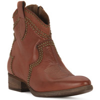 Schuhe Damen Low Boots Priv Lab CUOIO BUFALO Marrone