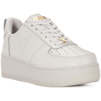 Schuhe Damen Sneaker Low Windsor Smith RACERR WHITE Bianco